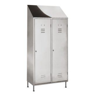 Armadio spogliatoio sporco/pulito ACCIAIO INOX  102x50x180h