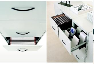 Classificatore metallico verticale a 3 cassetti
